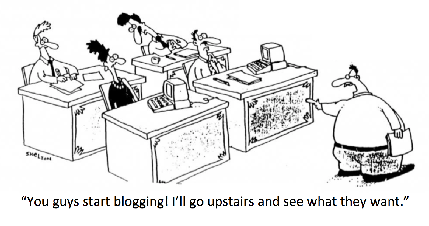 You guys start blogging. I'll go upstairs and see what they want.